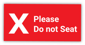 Please Do Not Seat X Symbol - Label