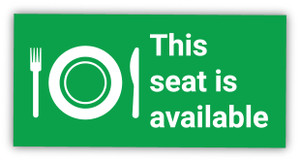 This Seat is Available - Label