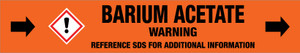 Barium Acetate [CAS# 543-80-6] - GHS Pipe Marking Label
