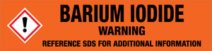 Barium Iodide [CAS# 13718-50-8] - GHS Pipe Marking Label
