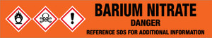 Barium Nitrate [CAS# 233-020-5] - GHS Pipe Marking Label