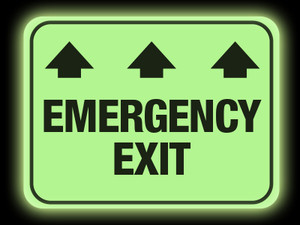 Glow in the Dark Emergency Exit Floor Sign