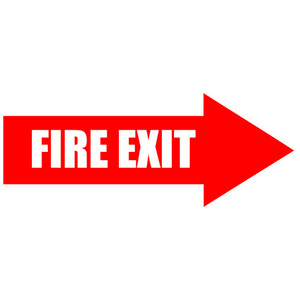 Fire Exit Arrow Floor Sign