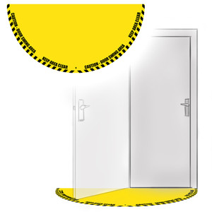 Door swing full floor sign