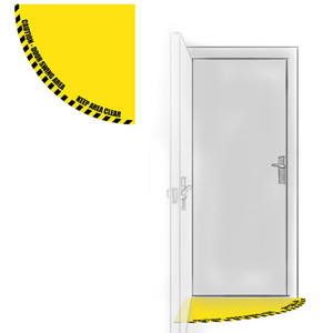 Door Half-Swing Floor Sign