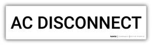 AC Disconnect - Arc Flash Label