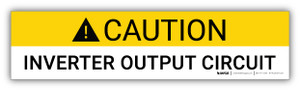 Caution Inverter Output Circuit - Arc Flash Label