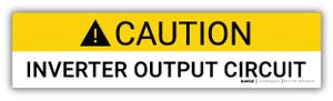 Caution Inverter Output Circuit - Arc Flash Label