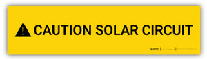 Caution Solar Circuit v2 - Arc Flash Label