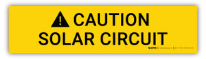 Caution Solar Circuit - Arc Flash Label