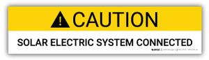 Caution Solar Electric System Connected - Arc Flash Label