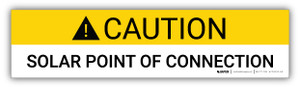 Caution Solar Point Of Connection - Arc Flash Label