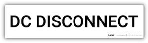 DC Disconnect - Arc Flash Label