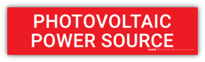 Photovoltaic Power Source v2 - Arc Flash Label