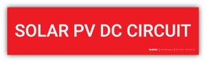 Solar PV DC Circuit - Arc Flash Label