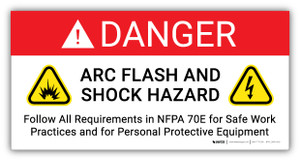 Danger Arc Flash And Shock Hazard PPE Required Incident Energy - Arc Flash Label