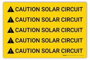 Caution Solar Circuit Multiple - Arc Flash Label