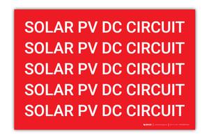 Solar PV DC Circuit Multiple - Arc Flash Label