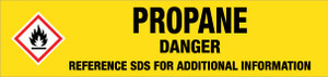 Propane [CAS# 74-98-6] - GHS Pipe Marking Label