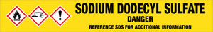 Sodium Dodecyl Sulfate [CAS# 151-21-3] - GHS Pipe Marking Label