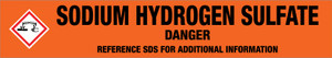 Sodium Hydrogen Sulfate [CAS# 7681-38-1] - GHS Pipe Marking Label