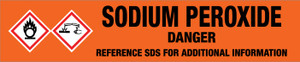 Sodium Peroxide [CAS# 1313-60-6] - GHS Pipe Marking Label