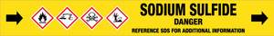 Sodium Sulfide [CAS# 1313-82-2] - GHS Pipe Marking Label