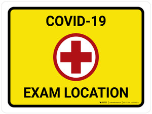 COVID-19 Exam Location with Icon Landscape - Wall Sign