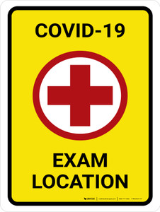 COVID-19 Exam Location with Icon Portrait - Wall Sign