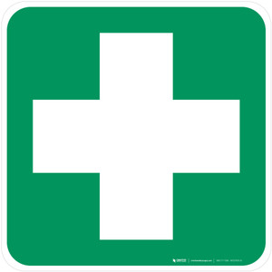 First Aid Safe Condition - ISO Floor Sign