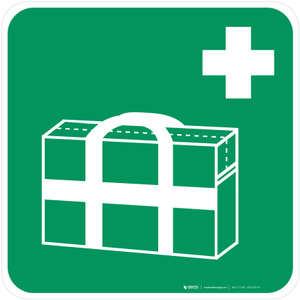 Medical Grab Bag Safe Condition - ISO Floor Sign