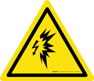 Arc Flash Warning - ISO Floor Sign