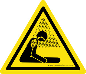 Asphyxiating Atmosphere Warning - ISO Floor Sign