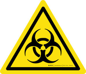 Biological Hazard Warning - ISO Floor Sign