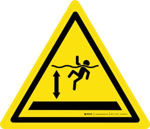 Deep Water Warning - ISO Floor Sign