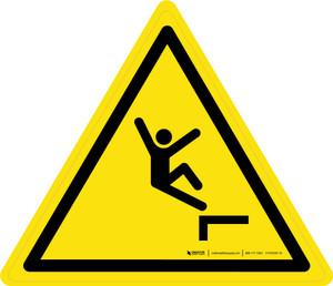 Drop (Fall) Warning - ISO Floor Sign