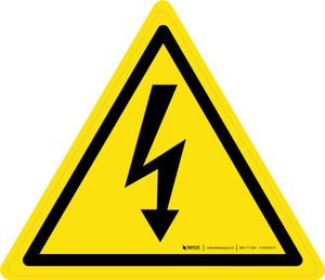 Electricity Warning - ISO Floor Sign