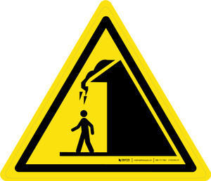 Falling Ice from Roof Warning - ISO Floor Sign