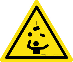 Falling Objects Warning - ISO Floor Sign