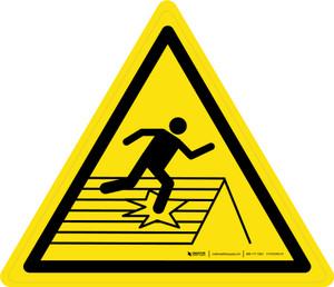Fragile Roof Warning - ISO Floor Sign