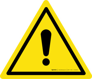 General Warning - ISO Floor Sign