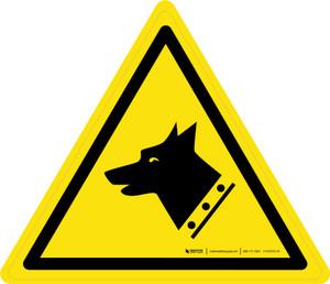 Guard Dog Warning - ISO Floor Sign