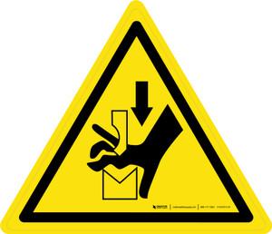 Hand Crushing Between Press Brake Tool Warning - ISO Floor Sign