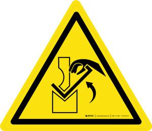 Hand Crushing Between Press Brake Warning - ISO Floor Sign