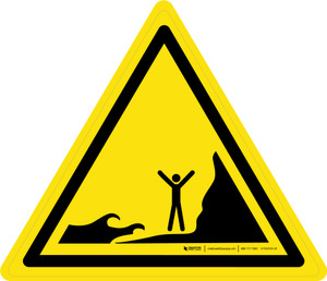 Incoming Tides Warning - ISO Floor Sign