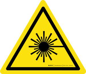 Laser Beam Warning - ISO Floor Sign