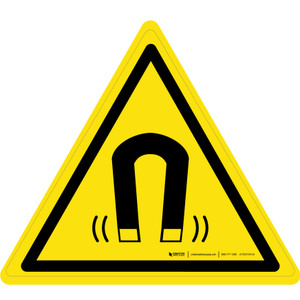 Magnetic Field Warning - ISO Floor Sign