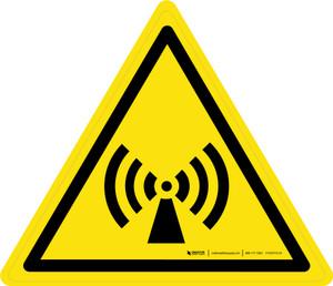 Non-Ionizing Radiation Warning - ISO Floor Sign