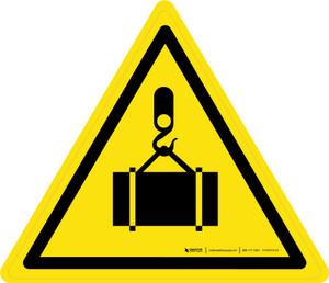 Overhead Load Warning - ISO Floor Sign