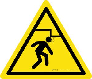 Overhead Obstacles Warning - ISO Floor Sign